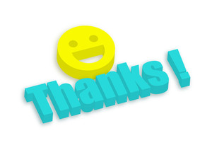 3d Smiley With Thanks Banner