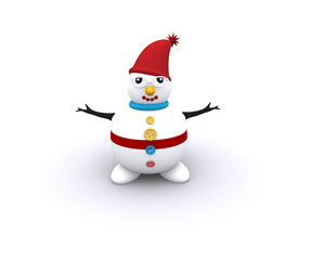 3d Snowman Illustration