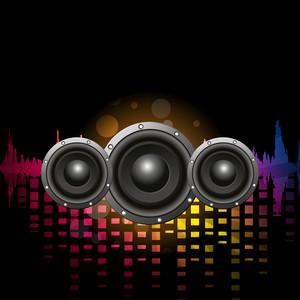 3D sound systems on volumn background.