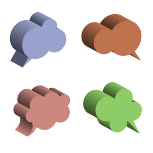 3d Speech Bubbles
