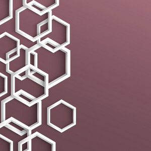 3d Stylish Geometric Background With Hexagons