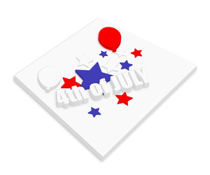 3d Text 4th Of July Vector Theme Design