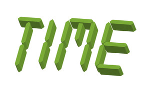 3d Time Text
