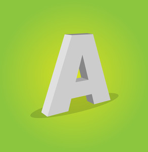 3d Vector Alphabet A Text