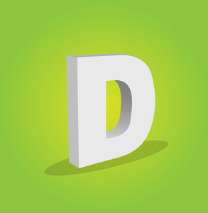 3d Vector Alphabet D Text