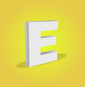 3d Vector Alphabet E Text