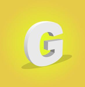 3d Vector Alphabet G Text