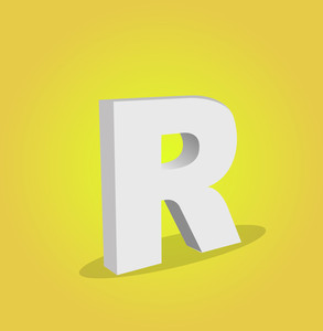 3d Vector Alphabet R Text