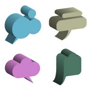 3d Vector Speech Bubbles