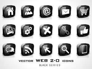 3d Web 2.0 Mail Icons Set. Can Be Used For Websites