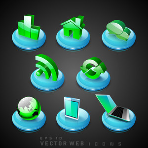 3d Web 2.0 Mail Icons Set.