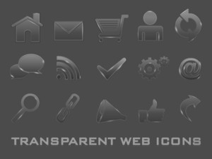 3d Web 2.0 Transparent Mail Icons Set. Can Be Used For Websites
