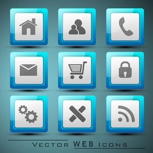 3d Web  Mail Icons Set For Websites