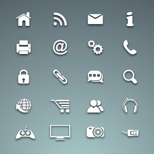 3d Web  Mail Icons Set