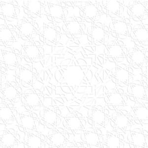 3d White Arabic Pattern