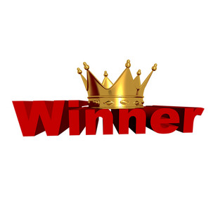 3d Winner With Golden Crown