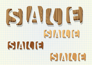 "3d Wooden ""sale"" Word"