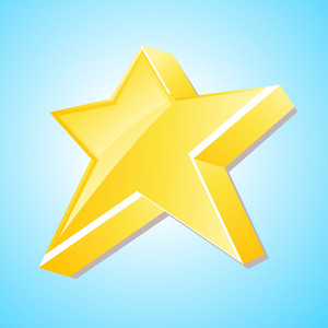 3d Yellow Star