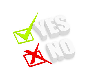 3d Yes And No Text