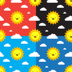 4 Cute Seamless Patterns