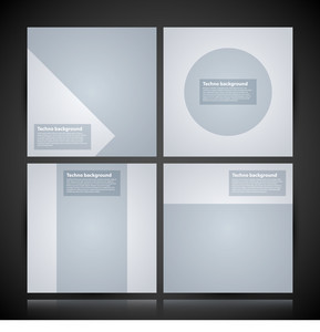 4 Minimal Square Backgrounds. Useful For Posters