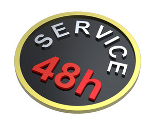 48 Hours Service Sign.