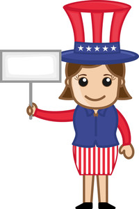 4th July - Business Cartoon Characters