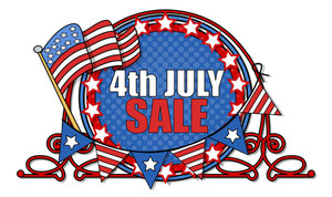 4th July Sale Banner Vector Illustration