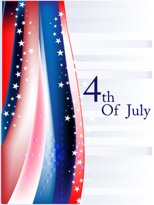 4th July Symbolizing American Independence Day.