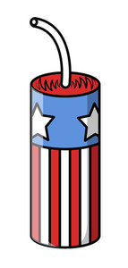 4th Of July Cracker Vector Art Design