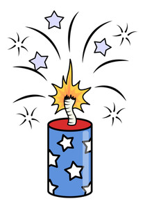 4th Of July Crackers Sparking Vector