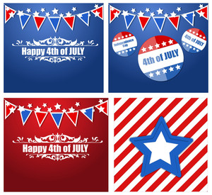 4th Of July Patriotic Usa Theme Vector