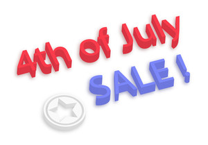4th Of July Sale 3d Text