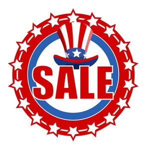 4th Of July Sale Text Badge