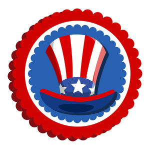 4th Of July Uncle Sam Hat Badge