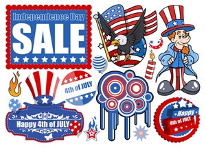 4th Of July  Vector Designs Set