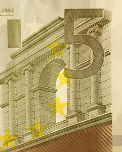 5 Euro Bill (close Up)