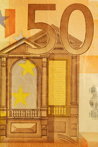 50 Euro Bill (close Up)