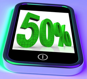 50 On Smartphone Shows Mobile Marketing And Special Promotions