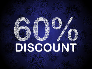 60% Discount Blue Vector