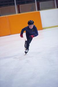 Children speed skating