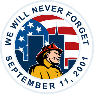 9/11 Fireman Commemorative Patch