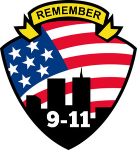 9-11 World Trade Center American Flag Shield