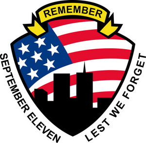 9-11 World Trade Center American Flag Shield