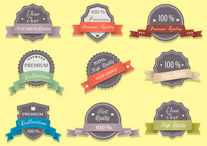 9 Premium Quality Labels In Retro Colors