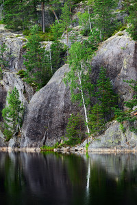 Granite Rocks And Cliffs In Finland