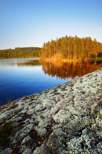 Saimaa Lake In Finland