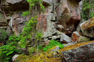 Granite Rocks And Canyons In Finland