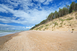 Baltic Sea Shore In Jurkalne