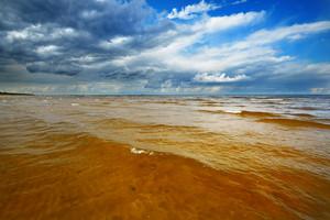 Baltic Sea Shore In Latvia